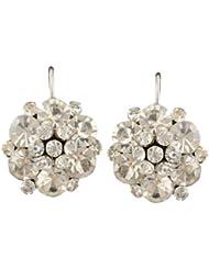 Waah Waah White Gold Plated Zirconia Ethnic Earrings Set For Women