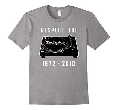 Men's Respect The Technics Shirt SL1210 Dj Turntable T-shirt Medium Slate (Technics Mk2 Turntables compare prices)