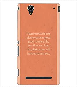 PrintDhaba Quote D-4969 Back Case Cover for SONY XPERIA T2 ULTRA (Multi-Coloured)