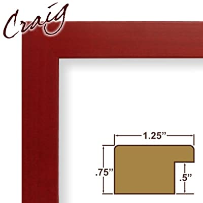 13x22 Custom Picture Frame / Poster Frame 1.25 Wide Complete Red Colori Smooth Frame (26024)