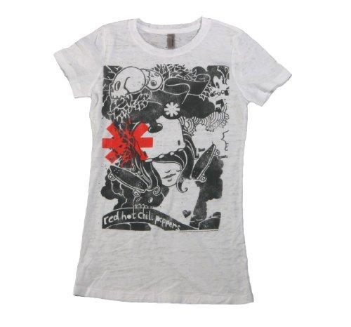 Juniors: Red Hot Chili Peppers - Danis Dream Juniors (Slim) T-Shirt Size XL (Bravado Chili compare prices)