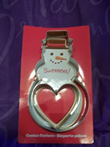 Hallmark Snowman and Heart Shaped Cookie Cutter's with Sugar Cookie Recipe Card