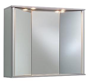 Ambientehome 54072 armario espejo para ba o 21 x 80 x for Armarios bano amazon