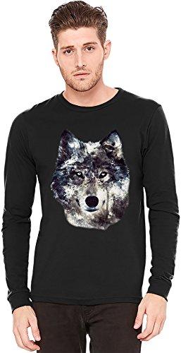 wolf-illustration-camiseta-de-manga-larga-long-sleeve-t-shirt-100-preshrunk-jersey-cotton-large
