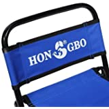 Portable Folding Chair Backrest Fishing Chair Small Blue Folding Stool(Size Medium)