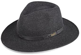 Pendleton Men's Indy Hat, Charcoal Mix, Small