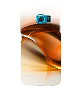 Orange Fluid Pattern 3D Hard Polycarbonate Designer Back Case Cover for Samsung Galaxy S6 Edge+ :: Samsung Galaxy S6 Edge Plus :: Samsung Galaxy S6 Edge+ G928G :: Samsung Galaxy S6 Edge+ G928F G928T G928A G928I