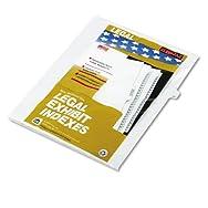 80000 Series Legal Index Dividers, Side Tab, Printed