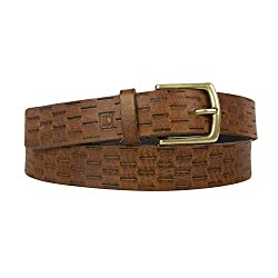 Leder Concept's Tanish Brown Women's Genuine Leather Belt (BW015_30, Brown, 30)