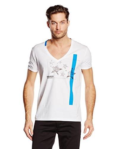 Dirk Bikkembergs Camiseta Manga Corta Blanco