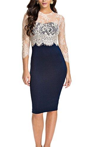 LECHEERS-Women-Lace-Vintage-Celeb-Bodycon-Cocktail-Formal-Evening-Midi-Dress