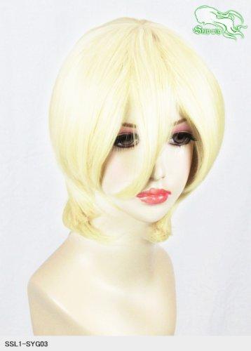 スキップウィッグ 魅せる シャープ 小顔に特化したコスプレアレンジウィッグ マシュマロショート ミルキィゴールド