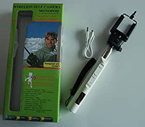 My Self Timer: Wireless Self Camera Monopod for iOS & Andriod Cellphones (White ZPG-03)
