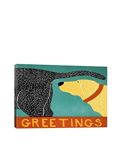 Stephen Huneck Greetings Canvas Print, Multi, 18 x 26