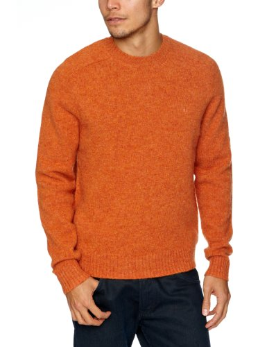 Brooks Brothers Contrast Logo Men's Jumper Orange Medium