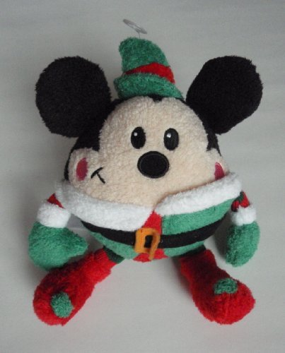 "Disney 8"" Round Elf Mickey Mouse Plush"