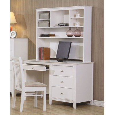 twin lakes computer desk with hutch in white
