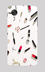 Back Cover for Nexus 5 Makeup Kit