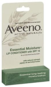 Aveeno Essential Moisture Lip Conditioner with SPF 15 Stick, 0.15 Ounce (Pack of 2)