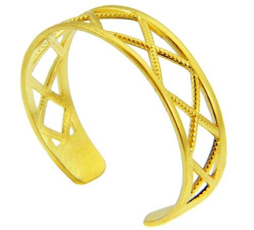 Yellow Gold X Toe ring (14K Gold)