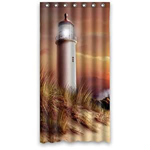lighthouse custom 36 x 72 shower curtain 7 holes to which rings attach shower. Black Bedroom Furniture Sets. Home Design Ideas