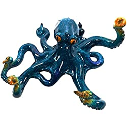Blue Octopus Wall Hook 7.25 Inches Tall