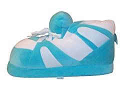 Happy Feet - Turquoise and White - Slippers