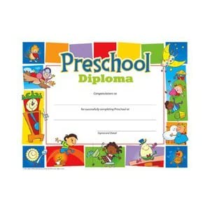Preschool Diploma 8-1/2 x 11 Inch - 30 Pack