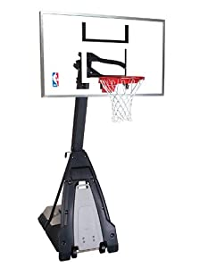 Buy Spalding The Beast Portable Basketball Hoop - 60 Glass Backboard by Spalding