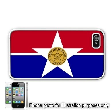 Dallas Texas Tx City State Flag Le Iphone 4 4s Case Cover White