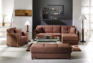 Vision Rainbow Truffle Sectional, Chair & Ottoman Set by Sunset