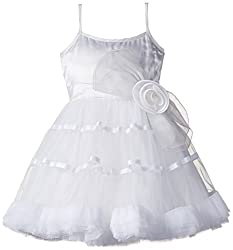 Kidology In-house Collection by Maya Nocon Baby Girls' Dress (KD/G/DR/S2-11/N-0304_White_1 Year)
