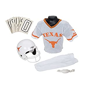 Franklin Sports NCAA Texas Longhorns Deluxe Youth Team Uniform Set, Medium