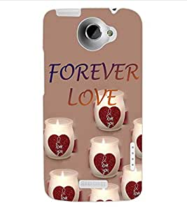 ColourCraft Love Image Design Back Case Cover for HTC ONE X