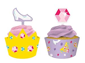 Creative Converting Castle Fun Cupcake Topper Decorations with Matching Baking Cup Wrappers, 12 Count