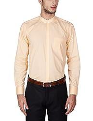 Arihant Men's 100% Cotton Formal Stand Collar Shirt(AR71673_40_Orange)