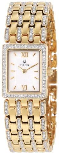 Bulova Women'S 98L159 Crystal Bracelet Watch