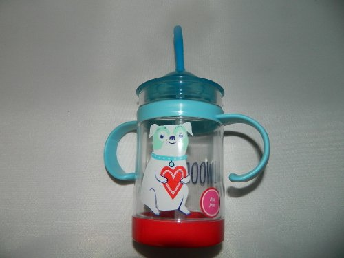 """Dog With Heart """"Woof You"""" Toddler Cup With Straw - Target 2014 Valentines"""