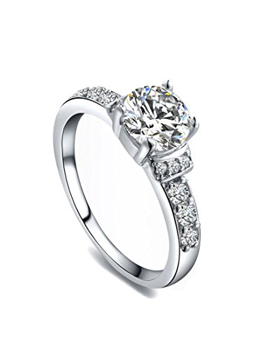 Round Cut Aaa Zircon Women Promise Ring With Czechic Crystals Embellished White Gold Plated Wa655 (6)