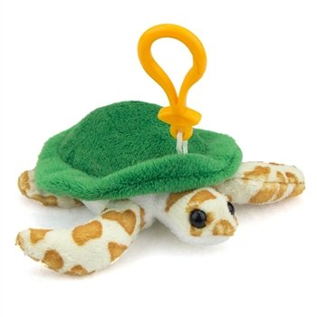 Green Sea Turtle Plush Sea Turtle Stuffed Animal Backpack Clip Toy Keychain Wildlife Artists front-1064528