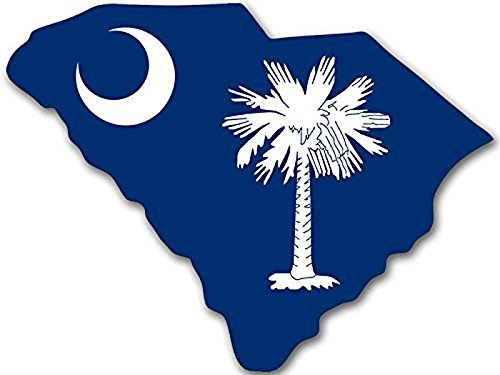 South Carolina Shaped South Carolina State Flag Sticker (South Carolina Bumper Sticker compare prices)