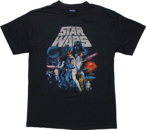Star Wars New Hope Vintage Navy T-Shirt Medium