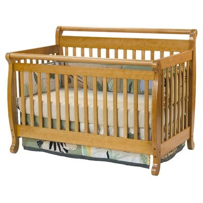 Emily Two Piece Convertible Crib Set With Toddler Rail In Honey Oak Finish: Honey Oak front-48742