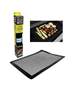 Camerons Grilling Mesh - Non-stick Grill Mesh Rollable Cooking Pan - Dishwasher safe & Reusable