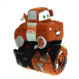 The North West Comany Disney Pixar Tow Mater Cars Pillow And Throw Set by Northwest
