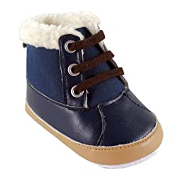 Luvable Friends Baby Faux Suede Winter Boots, Blue, 0-6 Months