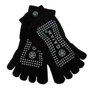 Gaiam All Grip Yoga Socks Grey Dots, Small/Medium