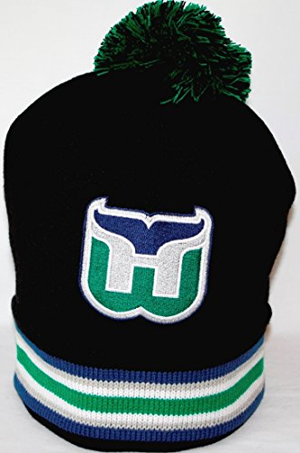 hartford-whalers-mitchell-ness-nhl-blackout-cuffed-knit-hat-cappello-w-pom