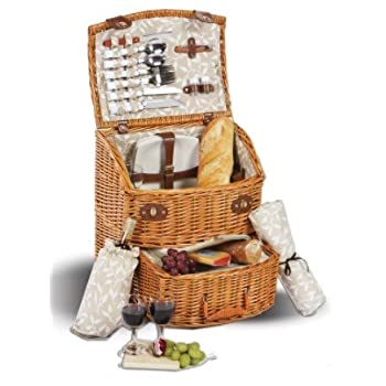 Freeport Outdoor Wicker Picnic Basket With Wheels