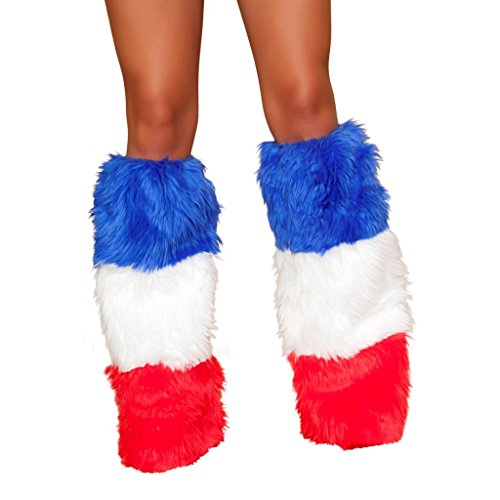 Sexy Faux Fur USA Legwarmers Halloween Accessory